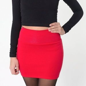 American Apparel Interlock Mini Skirt